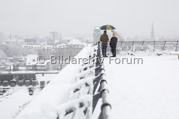 Stadt Zürich im Winter